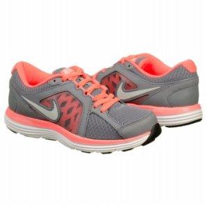 Nike Dual Fusion Sneakers in Grey/Mango